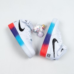 """Nike Air Force 1 High """"77 Vintage"""" """"Have A Good Game"""" White Black Rainbow DC3280-101 36-45"""
