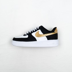 Nike Air Force 1 07 Low Black Gold CZ9189-001