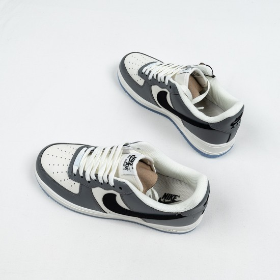 """Cheap Nike Air Force 1 Low """"Grey Crystal"""" Grey White Black DC1405-100 39-45 Shoes"""