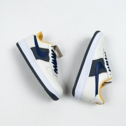 """Nike Air Force 1 Low """"Misplaced Swoosh"""" White Blue Yellow CK7214-101 39-45"""