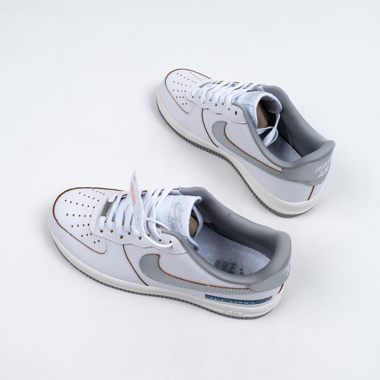"""Best Nike Air Force 1 Low """"Label Maker"""" White Grey Blue DC5209-100 36-45 Shoes"""