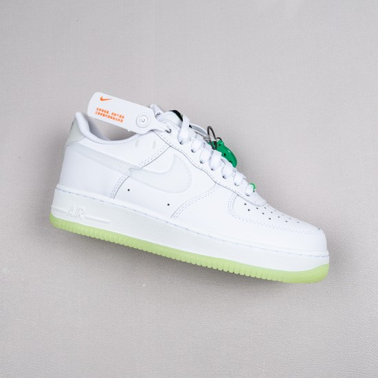 """Best Nike Air Force 1 Low """"Have A Nike Day"""" Smile White Green CT3228-100 36-45 Shoes"""