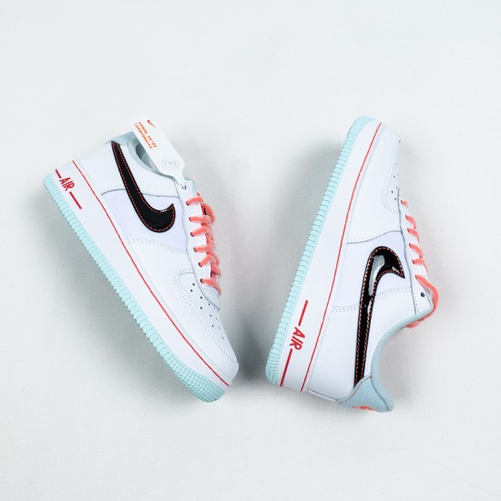 """Buy Nike Air Force 1 Low """"White Atomic Pink"""" White Blue Pink DD7709-100 35 Shoes"""