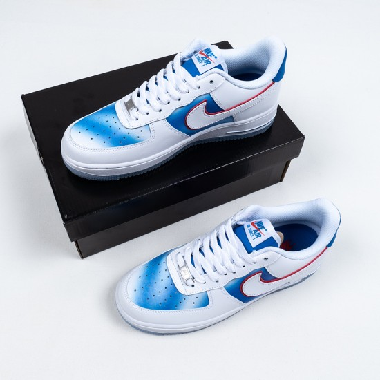 """Discount Nike Air Force 1 Low """"Pacific Blue"""" White Blue Red DC1404-100 36-45 Shoes"""