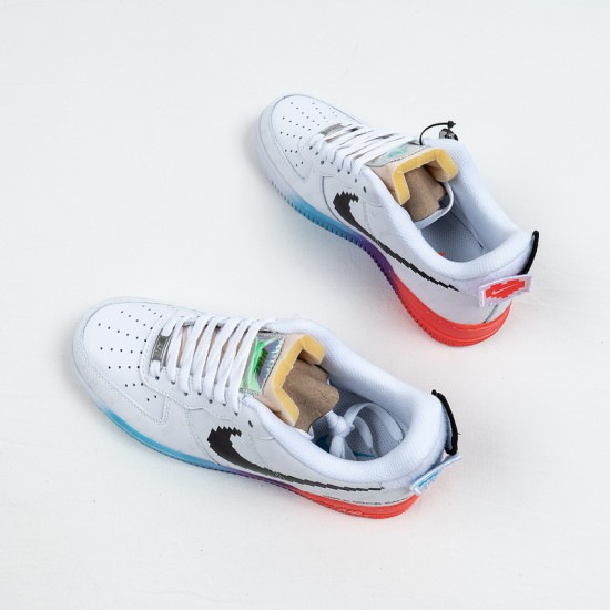 """Buy Off-White x Nike Air Force 1 07 Low """"Have A Good Game"""" White Black Rainbow 318155-113 36-45 Shoes"""