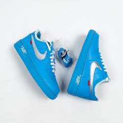 """Off-White x Nike Air Force 1 Low """"MCA"""" Blue Silver CI1173-400 36-45"""