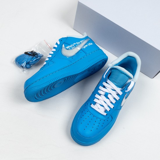"""Buy Off-White x Nike Air Force 1 Low """"MCA"""" Blue Silver CI1173-400 36-45 Shoes"""