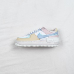"""Nike Air Force 1 Shadow """"Pastel"""" Pink Blue Yellow CI0919-106"""